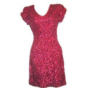 Dresses & Skirts - pink sequin mini dress size small 4 6